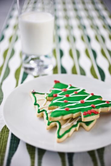 Christmas Cookies and Milk--Photographic Print