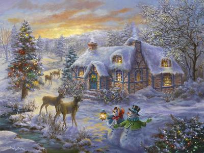 Christmas Cottage-Nicky Boehme-Giclee Print
