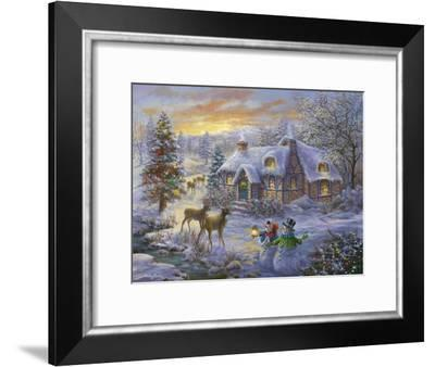 Christmas Cottage-Nicky Boehme-Framed Giclee Print