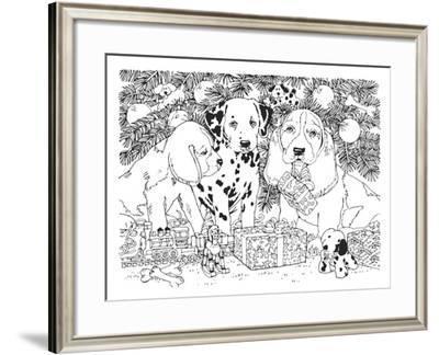 Christmas Cuties 24-William Vanderdasson-Framed Giclee Print
