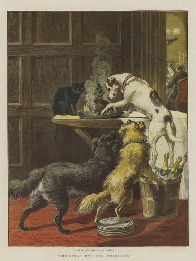 Christmas Day, the Uninvited-Samuel Edmund Waller-Giclee Print