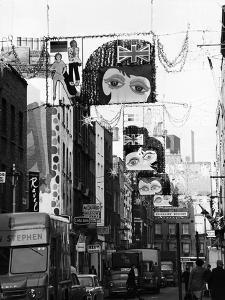 Christmas Decorations Along Carnaby Street in Soho