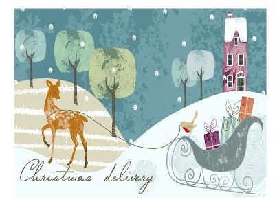 Christmas Delivery-Advocate Art-Art Print