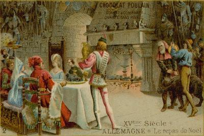 Christmas Dinner in 15th Century Germany--Giclee Print