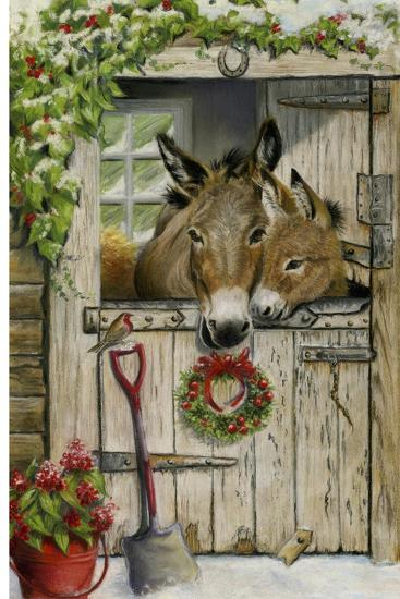 Christmas Donkies-Janet Pidoux-Giclee Print