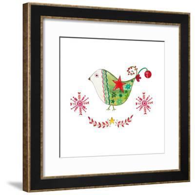 Christmas Dove I-Ani Del Sol-Framed Art Print