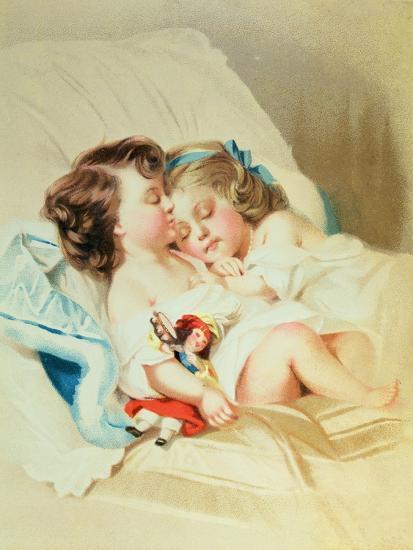 Christmas Dream, Victorian Postcard--Giclee Print