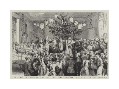 Christmas Entertainment in the Jenny Lind Infirmary for Sick Children, Norwich-Godefroy Durand-Giclee Print