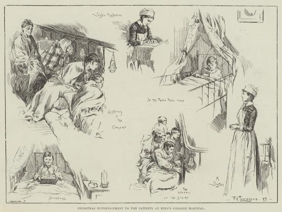 Christmas Entertainment to the Patients at King's College Hospital-Frederick Henry Townsend-Giclee Print