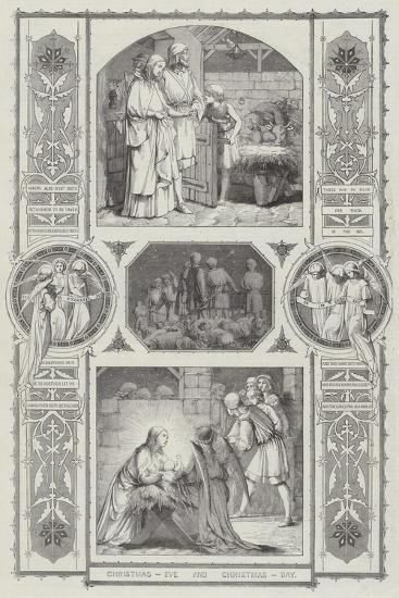 Christmas Eve and Christmas Day--Giclee Print