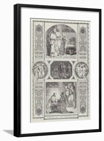 Christmas Eve and Christmas Day--Framed Giclee Print