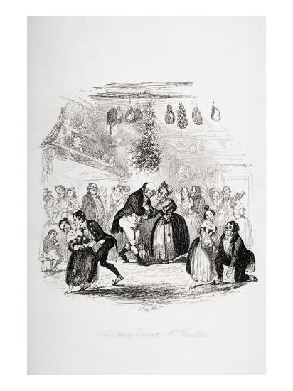 Christmas Eve at Mr. Wardle's, Illustration from `The Pickwick Papers' by Charles Dickens-Hablot Knight Browne-Giclee Print