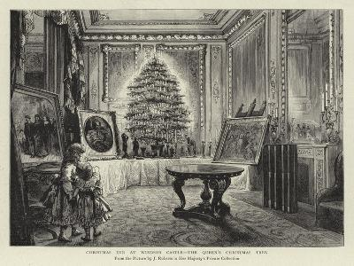 Christmas Eve at Windsor Castle, the Queen's Christmas Tree--Giclee Print