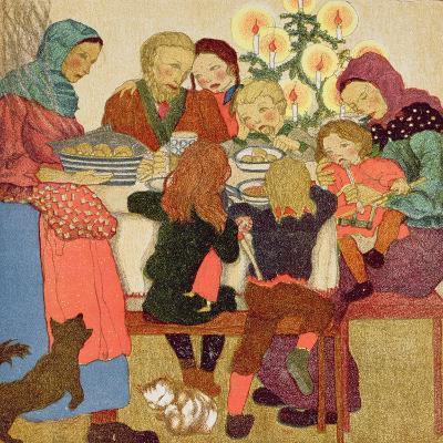Christmas Eve Feast, C.1910--Giclee Print