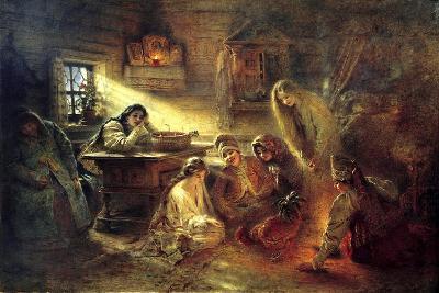 Christmas Eve Fortune Telling, 19th Century-Konstantin Makovsky-Giclee Print