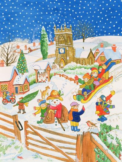 Christmas Eve in the Village-Tony Todd-Giclee Print