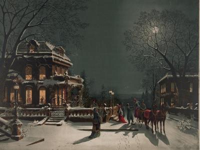 Christmas Eve Party- J. Hoover & Son-Art Print