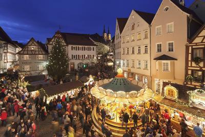 Christmas Fair, Blauer Turm Tower, Bad Wimpfen, Baden-Wurttemberg, Germany, Europe-Markus Lange-Photographic Print
