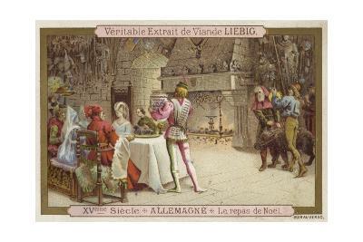 Christmas Feast, Germany, 15th Century--Giclee Print