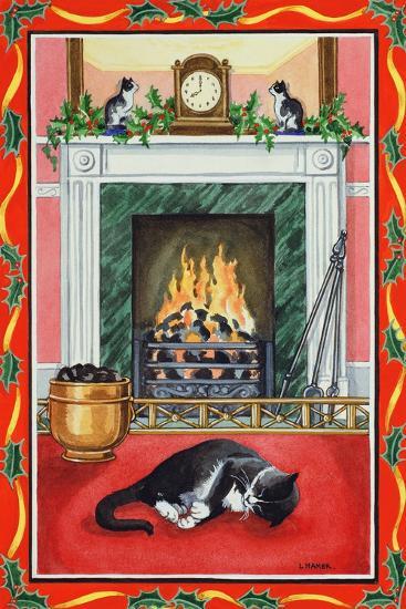 Christmas Fire-Lavinia Hamer-Giclee Print