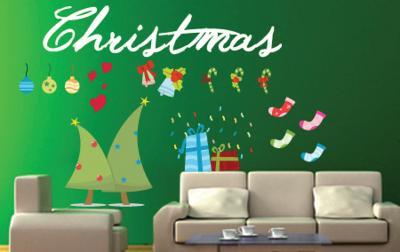 Christmas Fun--Wall Decal
