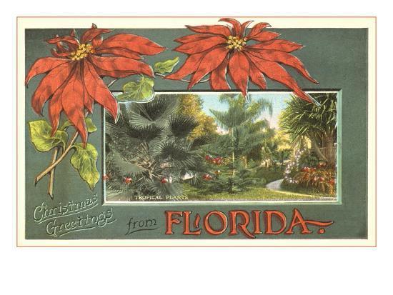 Christmas Greetings from Florida--Art Print