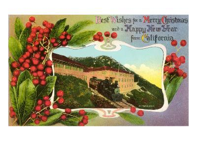 Christmas Greetings from Mt. Tamalpais, California--Art Print