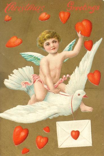 Christmas Greetings, Postcard, C.1910--Giclee Print