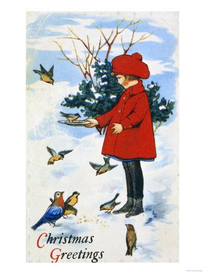 Christmas Greetings--Giclee Print