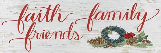 Christmas Holiday - Faith Family Friends v2-James Wiens-Premium Giclee Print