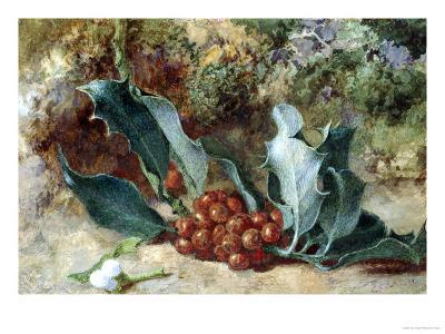 Christmas Holly-Jabez Bligh-Giclee Print