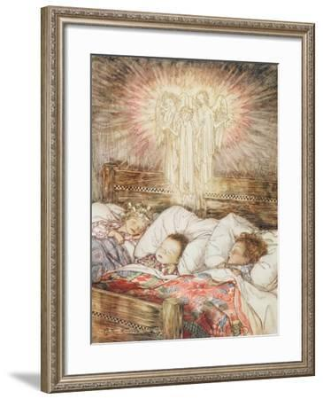 Christmas Illustrations, from 'The Night Before Christmas' by Clement Clarke Moore, 1931-Arthur Rackham-Framed Giclee Print