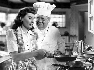 Christmas In Connecticut, Barbara Stanwyck, S.Z. Sakall, 1945