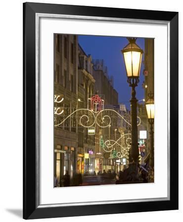 Christmas in Dam Square and Kalvestraat, Amsterdam, Netherlands, Europe-Marco Cristofori-Framed Photographic Print
