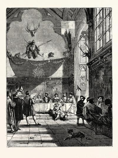 Christmas in the Baronial Hall Bringing in the Boar's Head--Giclee Print