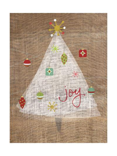 Christmas Joy on Burlap II-A Fresh Bunch-Art Print