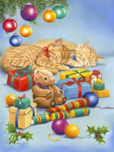 Christmas Kittens-Janet Pidoux-Giclee Print