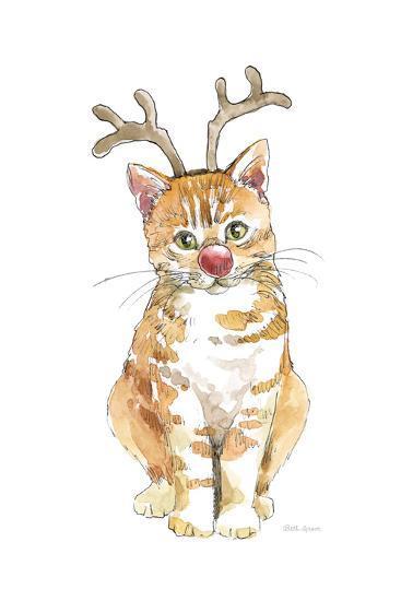 Christmas Kitties III-Beth Grove-Art Print