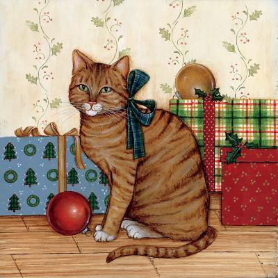 Christmas Kitty II-David Cater Brown-Art Print