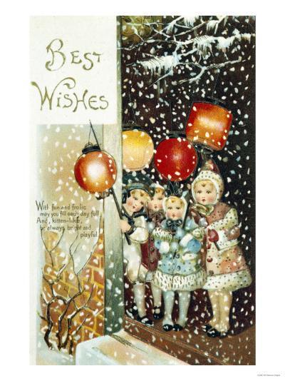 Christmas Lanterns--Giclee Print