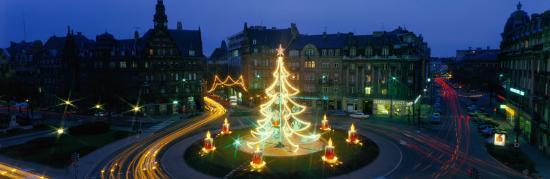 Christmas Lights, Metz, France--Photographic Print