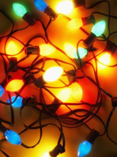 christmas lights randy faris photographic print