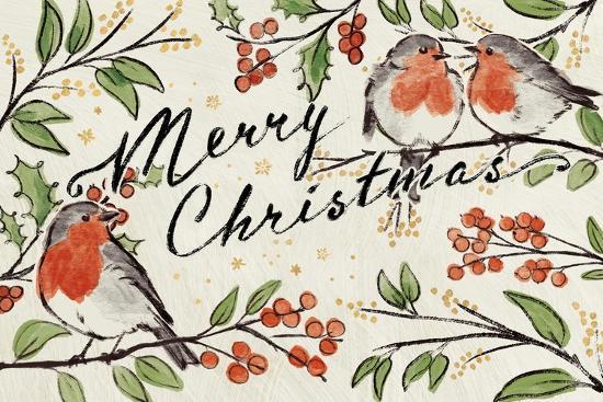 Christmas Lovebirds I-Janelle Penner-Art Print