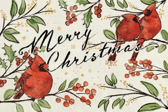 Christmas Lovebirds VIII-Janelle Penner-Art Print