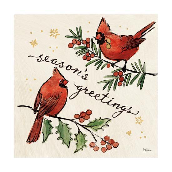Christmas Lovebirds X-Janelle Penner-Art Print