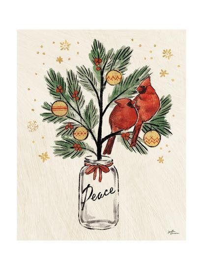 Christmas Lovebirds XIII-Janelle Penner-Art Print