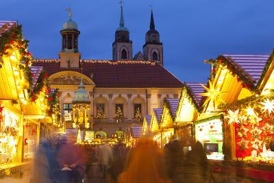 Christmas Market in the Altermarkt with the Baroque Town Hall in the Background-Miles Ertman-Photographic Print