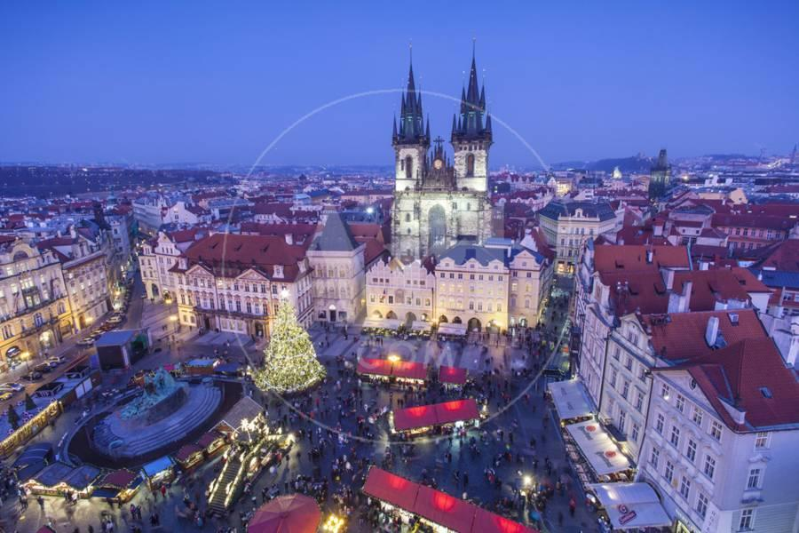 Prague Christmas Market.Christmas Market Old Town Square Prague Czech Republic Photographic Print By Jon Arnold Art Com