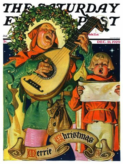 """Christmas Minstrels,"" Saturday Evening Post Cover, December 21, 1929-Joseph Christian Leyendecker-Giclee Print"