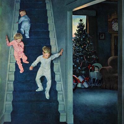 """""""Christmas Morning"""", December 24, 1955-John Falter-Premium Giclee Print"""